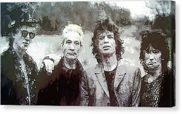 The Rolling Stones Canvas Print by Daniel Hagerman