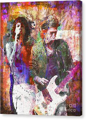 Roll Canvas Print - The Rolling Stones Original Painting Print  by Ryan Rock Artist