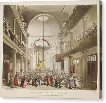 The Roman Catholic Chapel Canvas Print by British Library