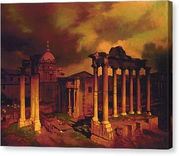 The Roman Forum Canvas Print by Blue Sky