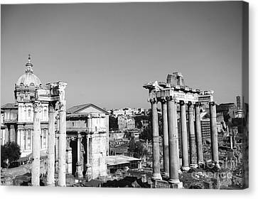 The Roman Forum In The Evening Canvas Print by Stefano Senise