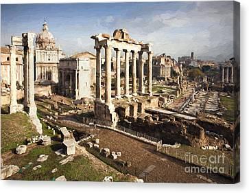 The Roman Forum Canvas Print by Julie Woodhouse