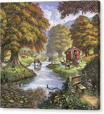 The Romany Camp Canvas Print by Steve Crisp