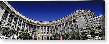 The Ronald Reagan Building And International Trade Center Canvas Print by Tom Gari Gallery-Three-Photography