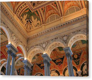 The Roof Above Jefferson's Books  Canvas Print