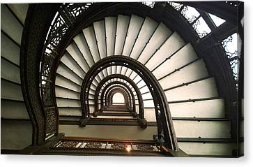 The Rookery Staircase Lasalle St Chicago Illinois Canvas Print by Kelly Hazel