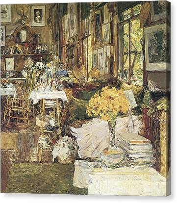 The Room Of Flowers Canvas Print by Childe Hassam