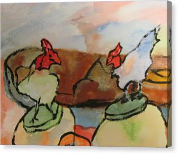 The Roosters Canvas Print by Shea Holliman