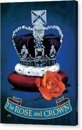 The Rose & Crown Canvas Print by Peter Green