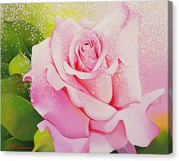 Rose Canvas Print - The Rose by Myung-Bo Sim