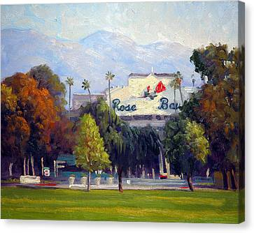 Gabriel Canvas Print - The Rose Bowl by Armand Cabrera