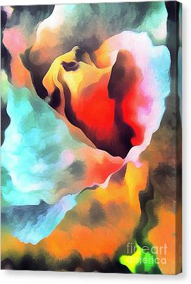 The Rose Flower Canvas Print by Odon Czintos