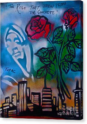 The Rose From The Concrete Canvas Print by Tony B Conscious