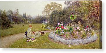 The Rose Garden Canvas Print by Thomas James Lloyd
