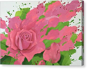 The Rose, In The Festival Of Light Canvas Print