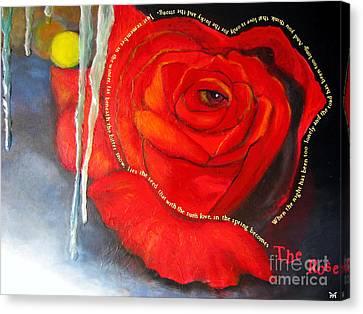 The Rose Canvas Print by Maria Watt