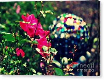 Canvas Print featuring the photograph The Rose's Ball by Mindy Bench