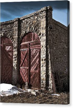 The Roundhouse Door Canvas Print by Ken Smith
