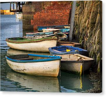 Canvas Print featuring the photograph The Rowboats Of Folkestone by Tim Stanley