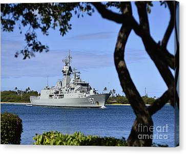 The Royal Australian Navy Anzac-class Canvas Print