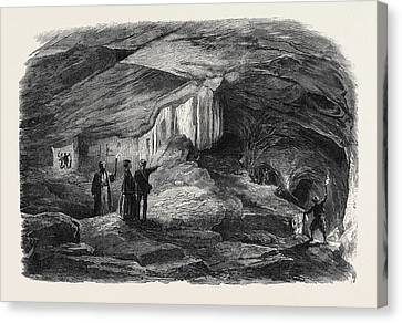 The Royal Caverns At Jerusalem 1869 Canvas Print by English School