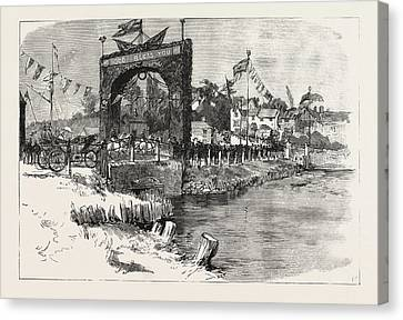 The Royal Couple Passing Over Wootton Bridge On Their Way Canvas Print by English School