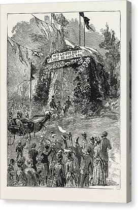 The Royal Couple Passing Under The Triumphal Arch Canvas Print by English School