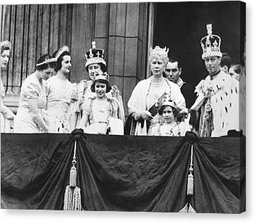 The Royal Family Canvas Print by Underwood Archives