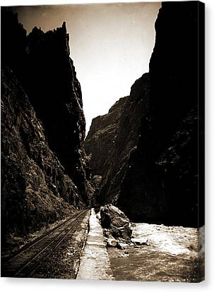 Arkansas Canvas Print - The Royal Gorge, Colo, Jackson, William Henry, 1843-1942 by Litz Collection