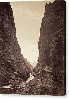 Arkansas Canvas Print - The Royal Gorge, Grand Cañon Of The Arkansas William Henry by Litz Collection
