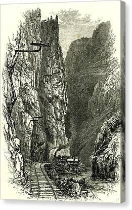 Arkansas Canvas Print - The Royal Gorge Of The Arkansas 1891 Usa by American School