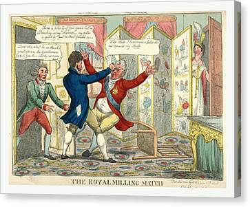 The Royal Milling Match, Caricature Showing Lord Yarmouth Canvas Print