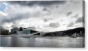 The Royal National Opera House In Oslo Norway Canvas Print