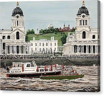 The Royal Salute Greenwich London Canvas Print by Mackenzie Moulton