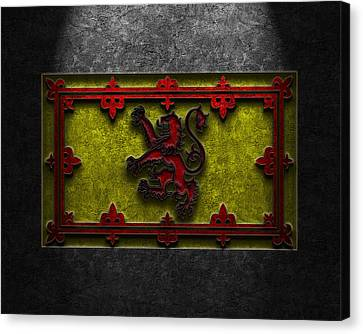The Royal Standard Of Scotland Stone Texture Canvas Print by Brian Carson