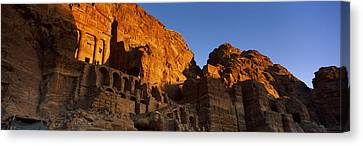 Petra Canvas Print - The Royal Tombs At Petra, Wadi Musa by Panoramic Images