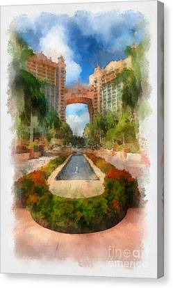 The Royal Towers Atlantis Resort Canvas Print by Amy Cicconi