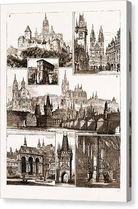 The Royal Wedding In Austria, Sketches In Prague, Where Canvas Print by Litz Collection
