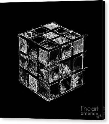 The Rubik's Cube Canvas Print by Nishanth Gopinathan