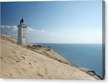 The Rubjerg Lighthouse Canvas Print by Robert Lacy