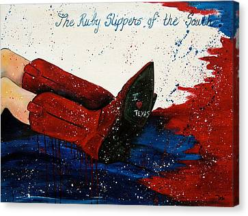 The Ruby Slippers Of The South Canvas Print by Debi Starr