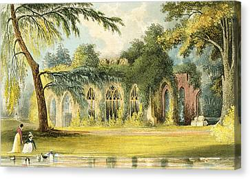 Ruins Canvas Print - The Ruins   Frogmore by John Gendall