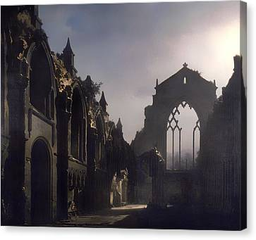 The Ruins Of Holyrood Chapel Canvas Print