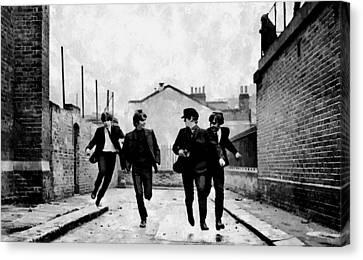 The Running Beatles Canvas Print