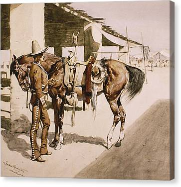 The Rural Guard Mexico Canvas Print by Frederic Remington