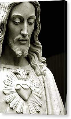 The Sacred Heart Of Jesus, 19th Century Canvas Print by South American School