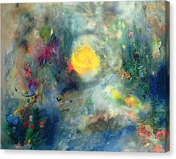 The Sacred Spiral Canvas Print by Jane Deakin