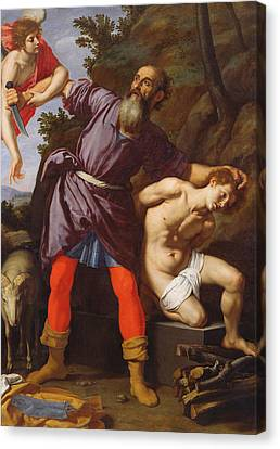 The Sacrifice Of Abraham Canvas Print by Cristofano Allori