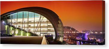 Wide Angled Glass Mirror Canvas Print - The Sage And River Tyne Illuminated by John Short