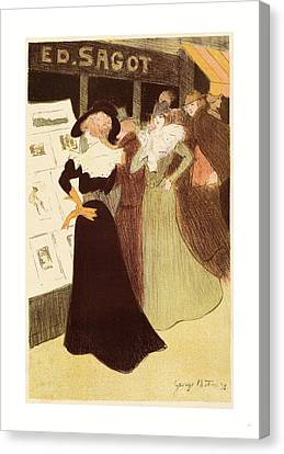 The Sagot Address, French, 1874  1907, 1898 Canvas Print by Bottini, George (1874-1907), French
